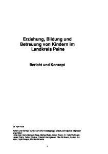 Erziehung, Bildung und Betreuung von Kindern im Landkreis Peine