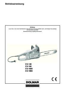 ES-140 ES-160 ES-1600 ES-1800