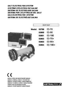 ES-70 ES-90 ES-180 ES-70+ ES-90+ ES-180+