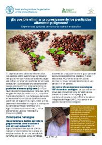 Es posible eliminar progresivamente los pesticidas altamente peligrosos!