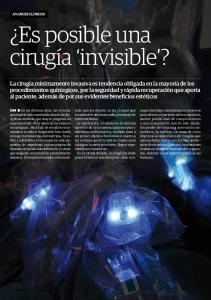 Es posible una cirugía invisible?