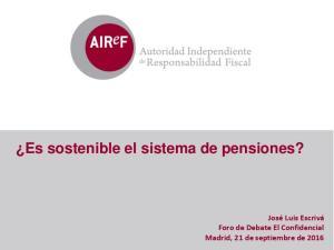Es sostenible el sistema de pensiones?