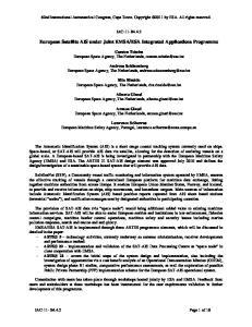 ESA Integrated Applications Programme