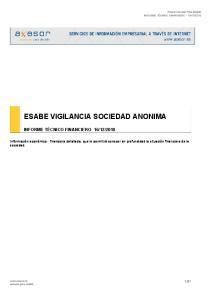 ESABE VIGILANCIA SOCIEDAD ANONIMA