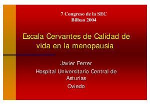 Escala Cervantes de Calidad de vida en la menopausia