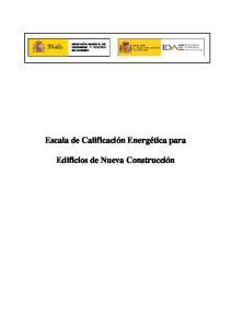 Escala de Calificación Energética para Edificios de Nueva Construcción