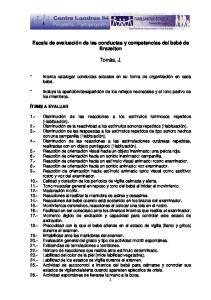 Escala de evaluación de las conductas y competencias del bebé de Brazelton. Tomàs, J