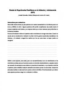 Escala de Experiencias Familiares en la Infancia y Adolescencia (EFI)