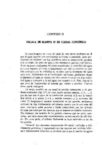 ESCALA DE RAMPA O DE CANAL CONTINUA