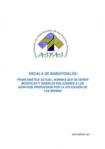 ESCALA DE SUBOFICIALES: