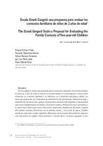 Escala Etxadi Gangoiti: una propuesta para evaluar los contextos familiares de niños de 2 años de edad 1