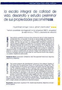 escala integral de calidad de vida, desarrollo y estudio preliminar de sus propiedades psicometricas