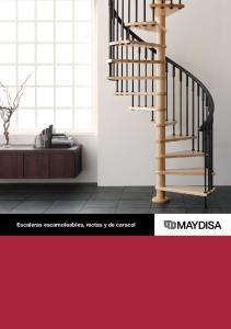 Escaleras escamoteables, rectas y de caracol