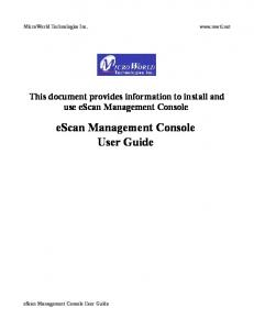 escan Management Console User Guide