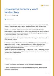 Escaparatismo Comercial y Visual Merchandising
