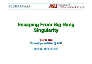 Escaping From Big Bang Singularity