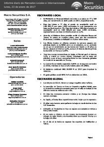 ESCENARIO LOCAL ESCENARIO GLOBAL