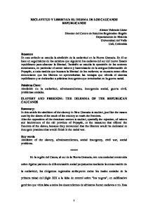 ESCLAVITUD Y LIBERTAD: EL DILEMA DE LOS CAUCANOS REPUBLICANOS