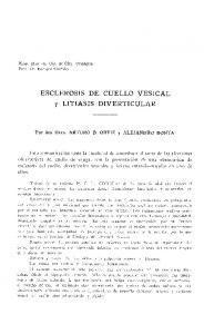 ESCLEROSIS DE CUELLO VESICAL