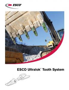 ESCO Ultralok. Tooth System