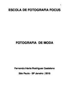ESCOLA DE FOTOGRAFIA FOCUS FOTOGRAFIA DE MODA