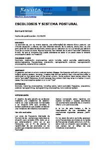 ESCOLIOSIS Y SISTEMA POSTURAL