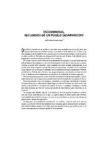 ESCOMBRERAS, RECUERDOS DE UN PUEBLO DESAPARECIDO