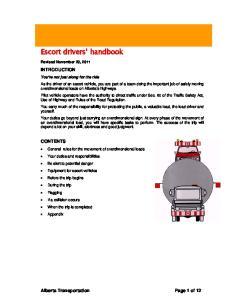 Escort drivers handbook