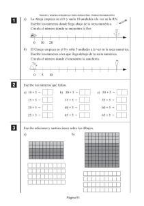 Escribe adiciones y sustracciones sobre los dibujos. a) b)