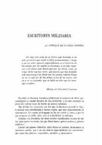 ESCRITORES MILITARES