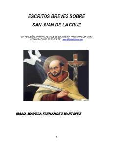 ESCRITOS BREVES SOBRE SAN JUAN DE LA CRUZ