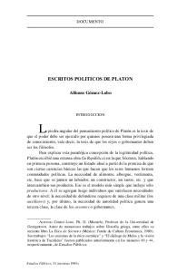 ESCRITOS POLITICOS DE PLATON