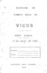 ESCRITURA. COMPRA -VENTA DE