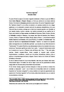 Escrituras migrantes * Armando Gnisci