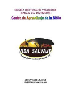 ESCUELA CRISTIANA DE VACACIONES MANUAL DEL INSTRUCTOR