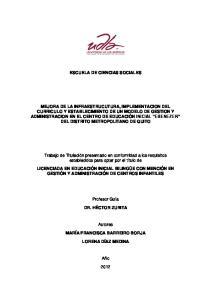 ESCUELA DE CIENCIAS SOCIALES