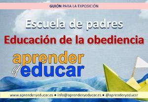 Escuela de padres Educación de la obediencia
