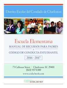 Escuela Elementaria MANUAL DE RECURSOS PARA PADRES Y