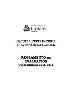 ESCUELA PREPARATORIA DE LA UNIVERSIDAD LA SALLE