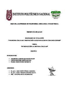 ESCUELA SUPERIOR DE INGENIERIA MECANICA Y ELECTRICA ESIME CULHUACAN