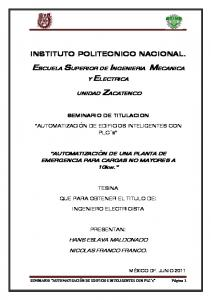 ESCUELA SUPERIOR DE INGENIERIA MECANICA