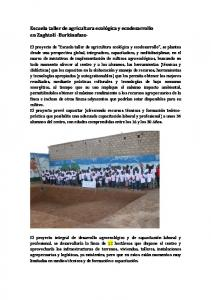 Escuela taller de agricultura ecológica y ecodesarrollo en Zaghtolí -Burkinafaso-