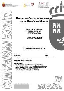 ESCUELAS OFICIALES DE IDIOMAS