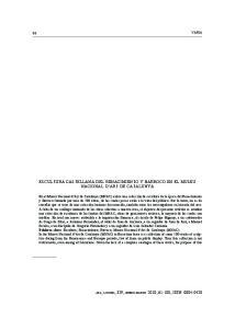 ESCULTURA CASTELLANA DEL RENACIMIENTO Y BARROCO EN EL MUSEU NACIONAL D ART DE CATALUNYA