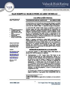 E.S.E HOSPITAL MARCO FIDEL SUAREZ DE BELLO