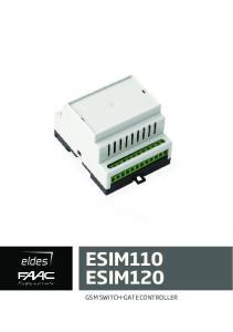 ESIM110 ESIM120 GSM SWITCH-GATE CONTROLLER