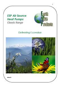 ESP Air Source Heat Pumps Classic Range
