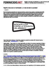 España: denunciar al maltratador, un reto de toda la sociedad