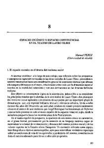 ESPACIO ESCÉNICO Y ESPACIO CONVIVENCIAL EN EL TEATRO DE LAURO OLMO