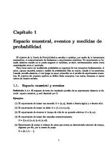 Espacio muestral, eventos y medidas de probabilidad